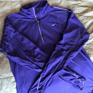 Nike DriFit Half ZIP - Purple